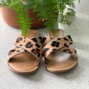 Matisse Slide on Cheetah Hair Sandal